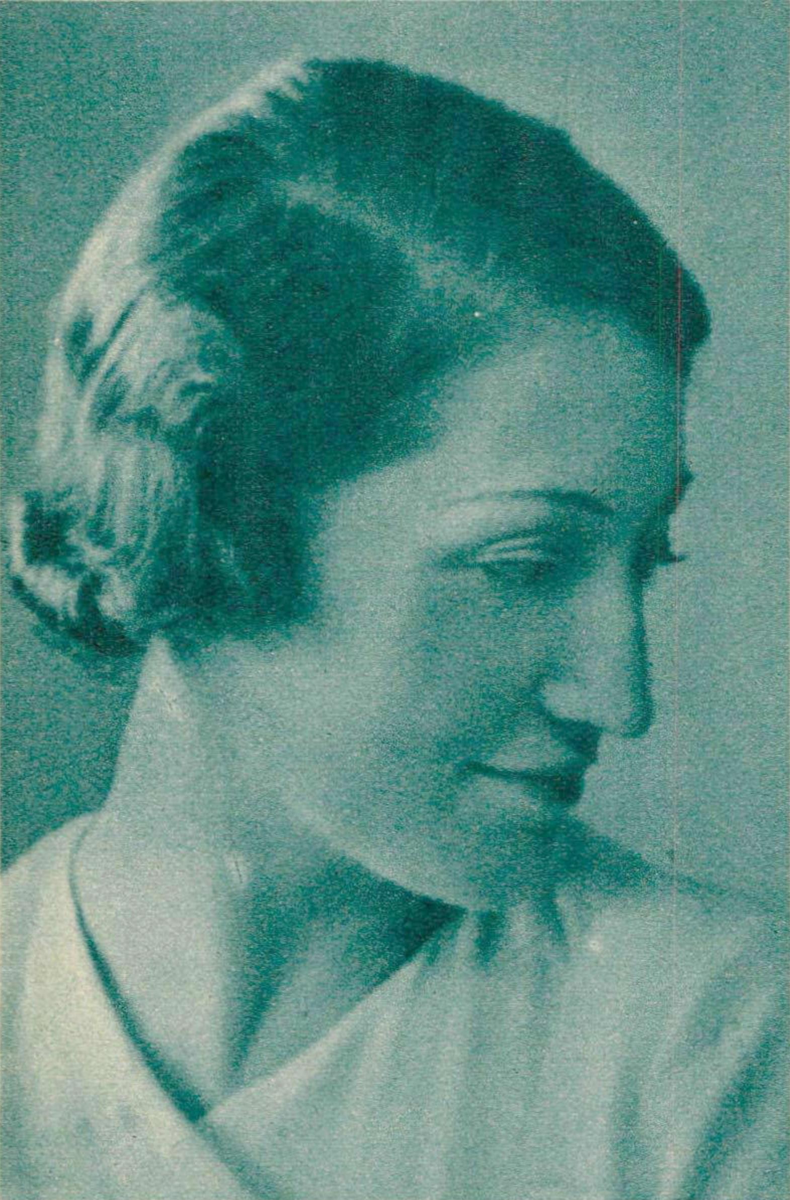 Jacqueline BLANCARD au début des années 1930, publié entre autres dans la revue Le Radio du 3 avril 1936 en page 638