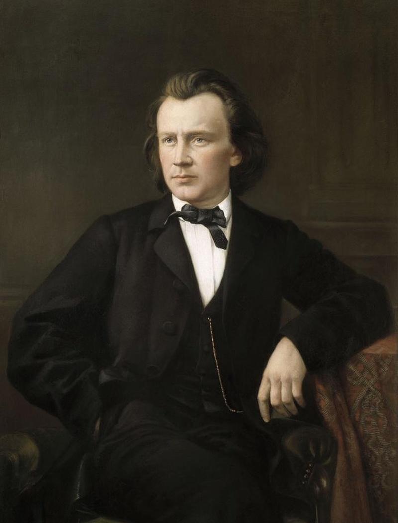 Johannes BRAHMS vers 1875-1880, l'original de ce portrait devrait se trouver au Historisches Museum der Stadt Wien
