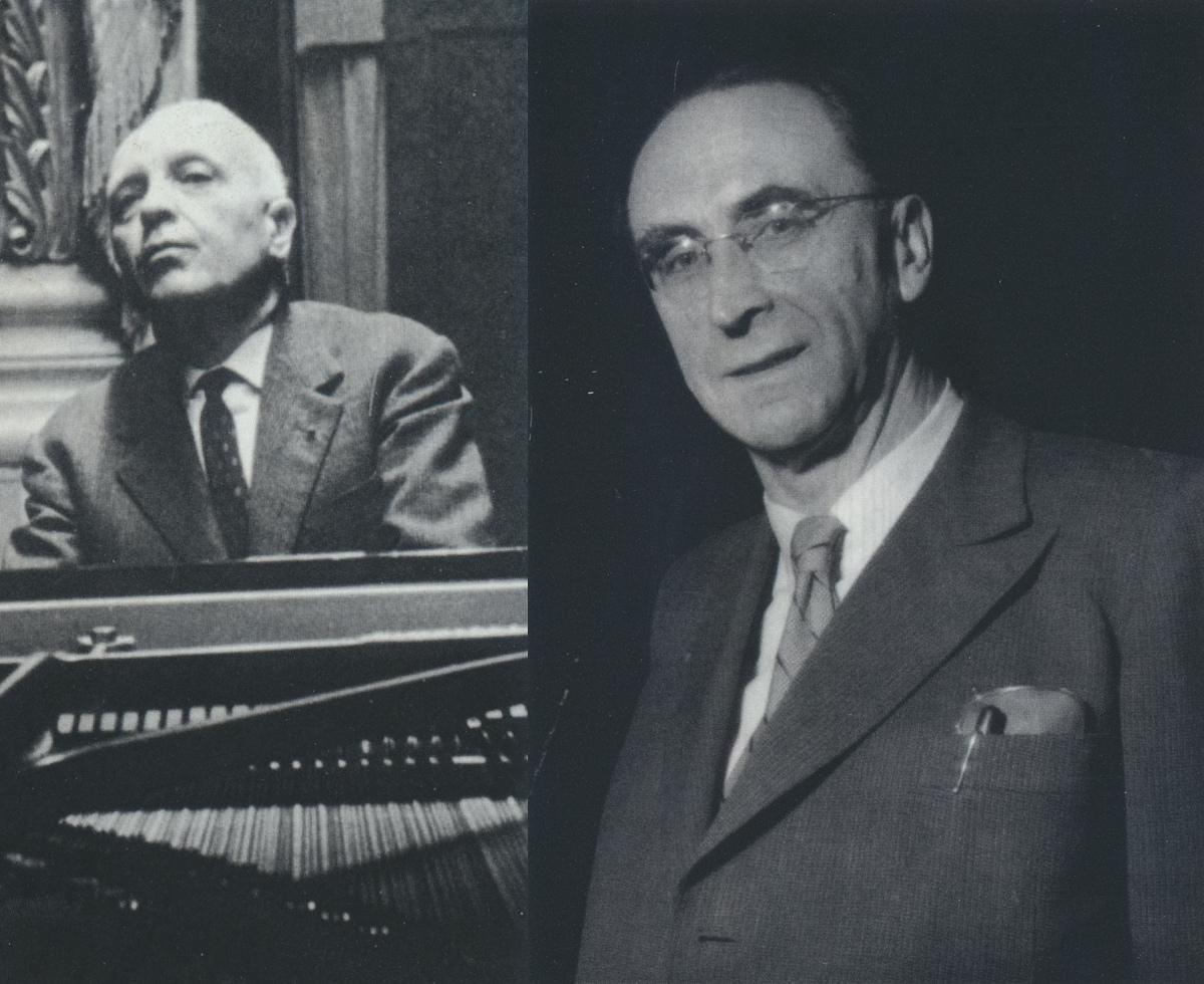 Robert CASADESUS et Hans ROSBAUD, photo de presse Sony resp. des archives de la SWR, dates, lieux et photographes inconnus