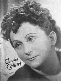 Claudine COLLART, une photo publiée entre autres en page de couverture de la revue Semaine Radiophonique du 20 janvier 1952, No 3
