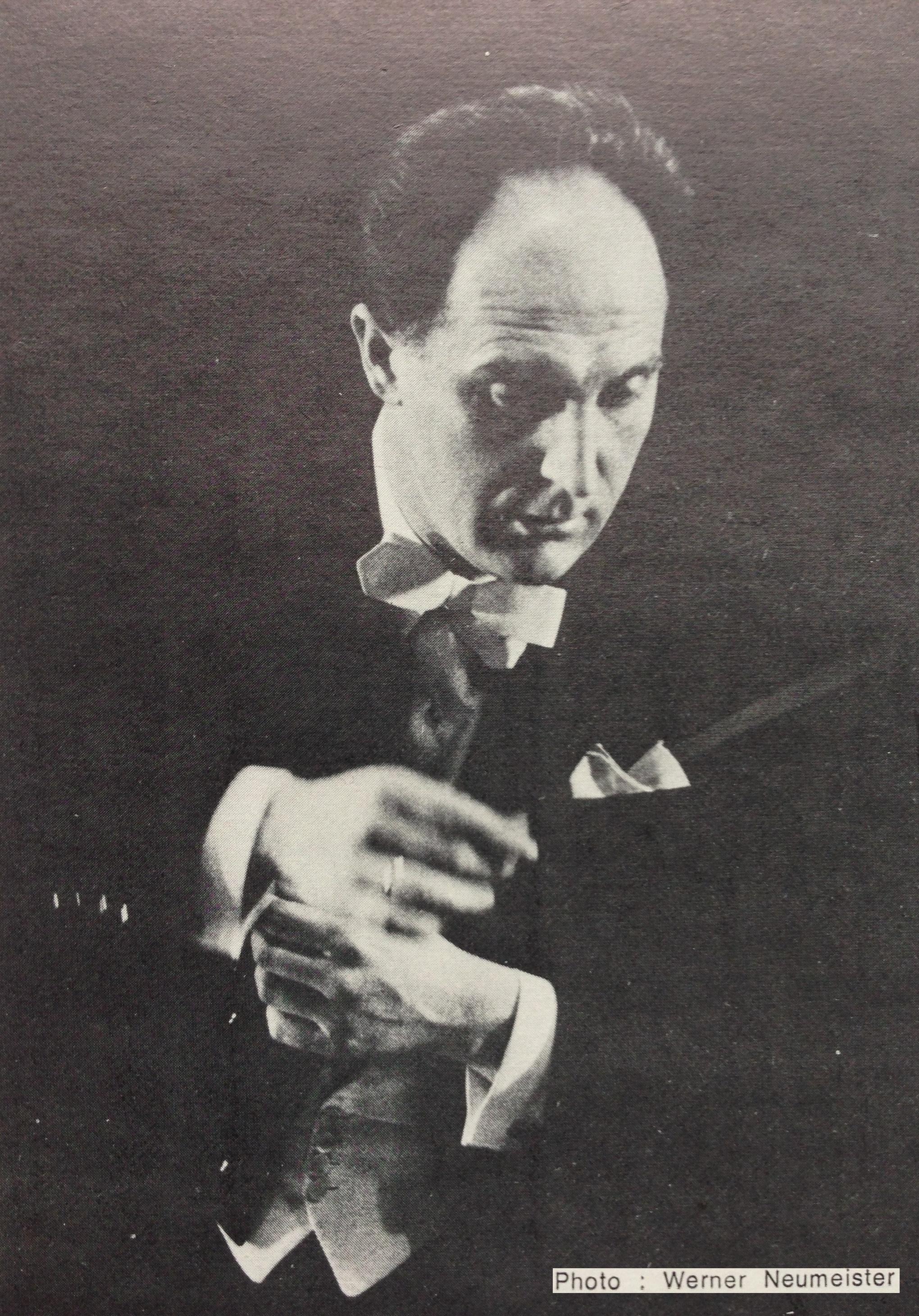 Pierre COLOMBO, un portrait fait par Werner NEUMEISTER, publié entre autres sur la pochette du disque SMS 2816, Cliquer sur la photo pour une vue agrandie