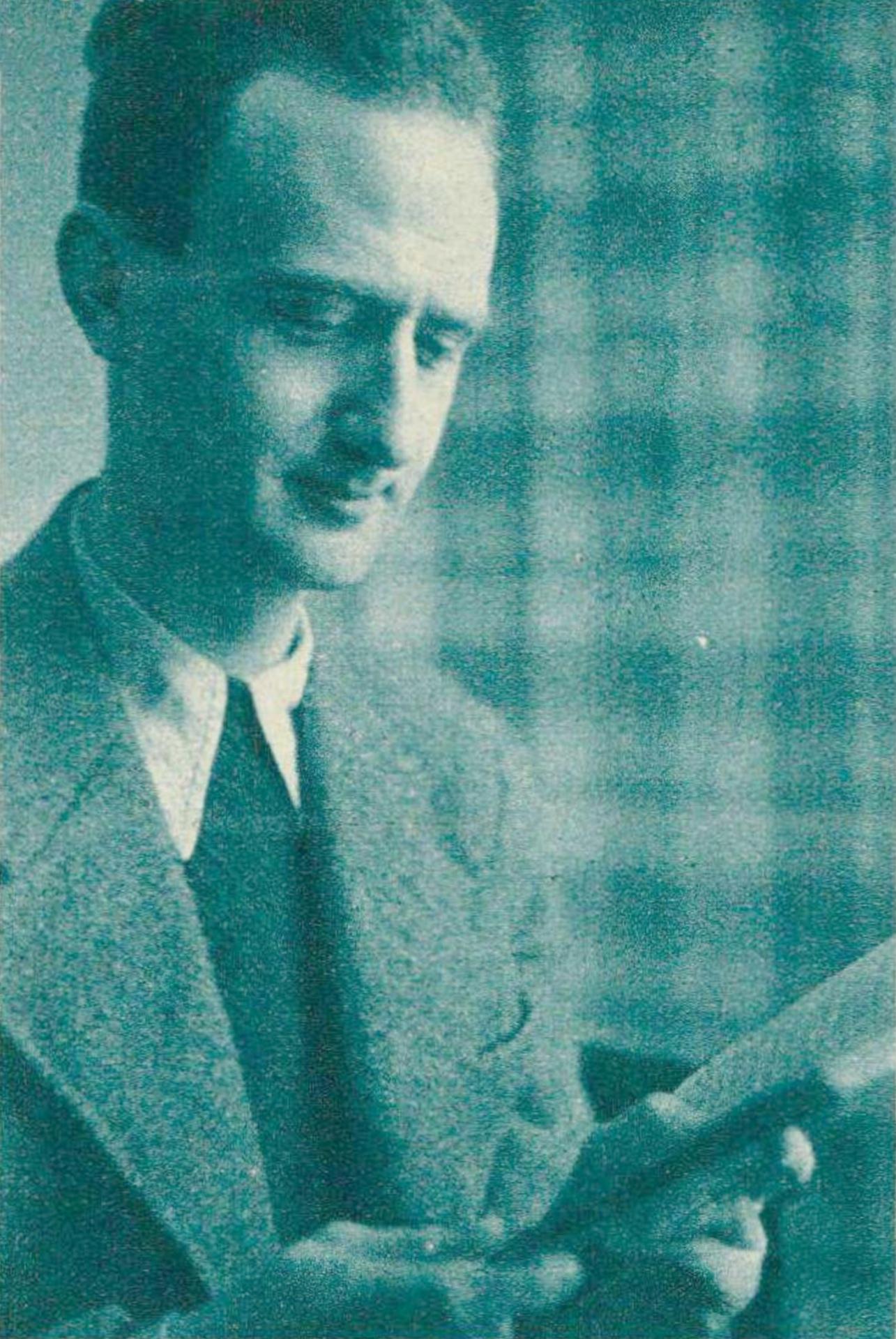 Pierre Colombo, revue Radio Actualités du 2 février 1945, No 5, page 14. Cliquer pour une vue agrandie