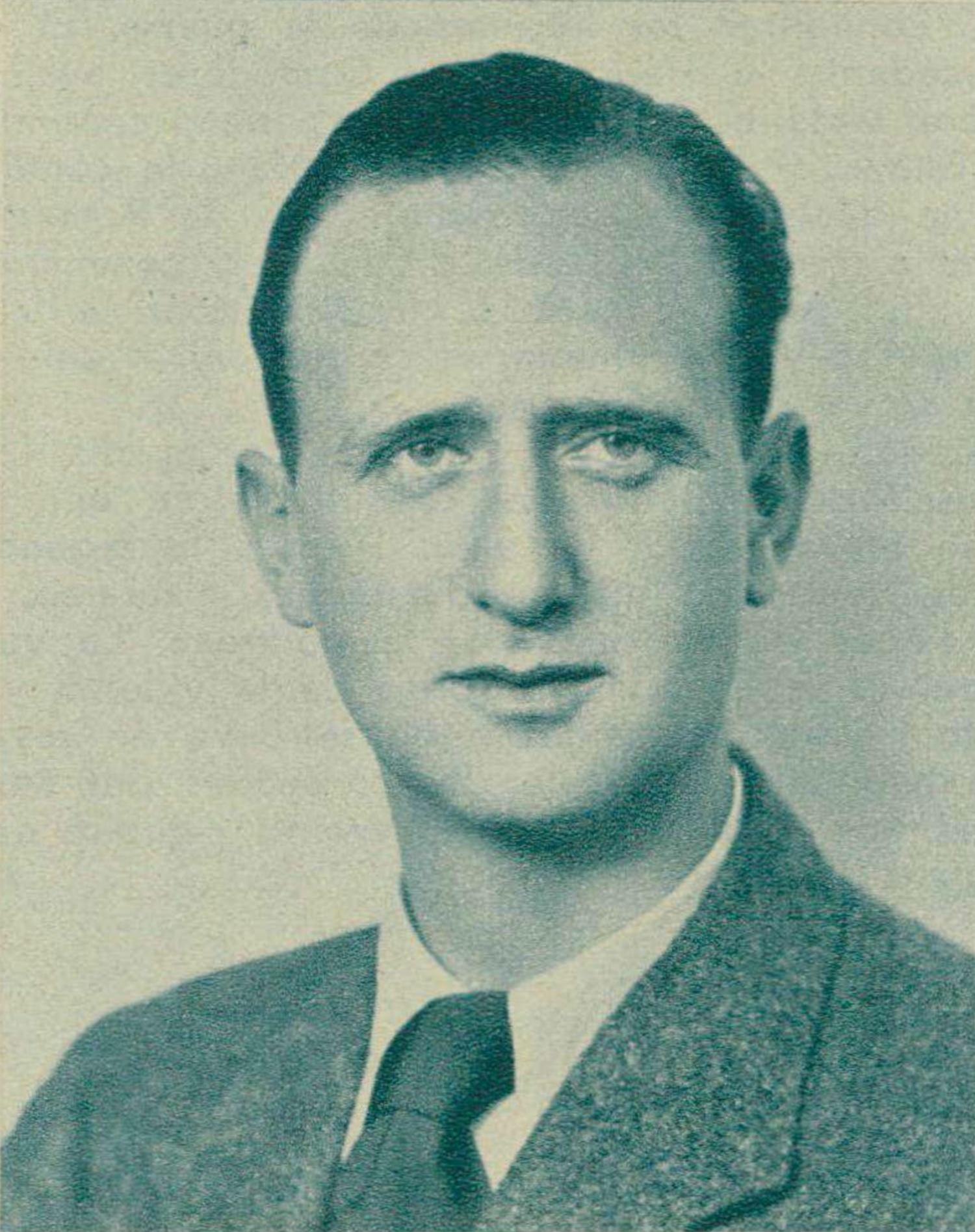 Pierre Colombo, portrait fait par A.Marlof, Vevey, revue Radio Actualités du 8 février 1946, No 2, page 168. Cliquer pour une vue agrandie