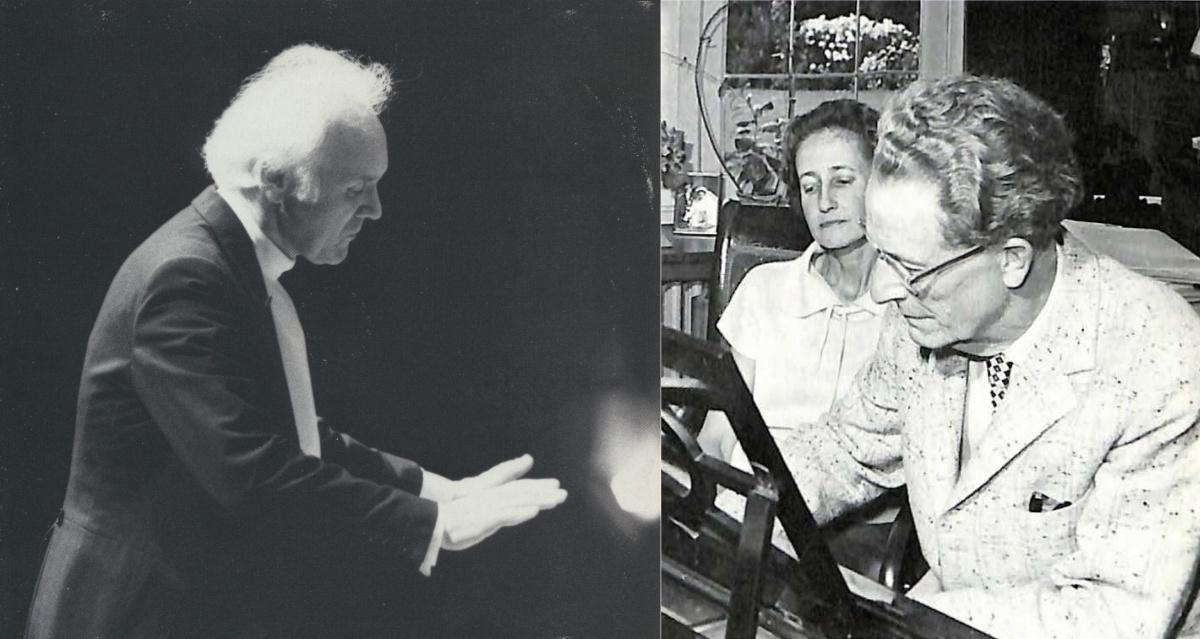 Michel Corboz (portrait fait par Michel Sarrat pour Erato), Maria et Frank Martin