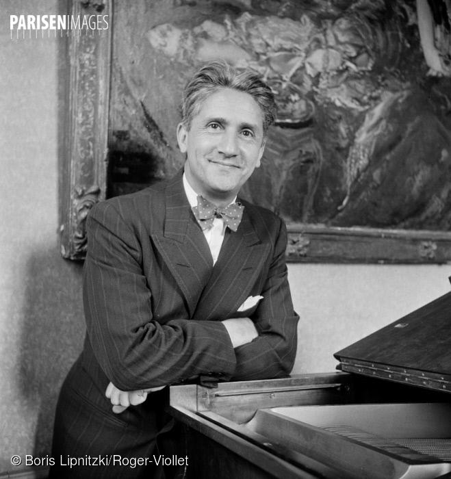 Roger DÉSORMIÈRE, une photo de Boris LIPNITZKI citée de la collection Roger-Viollet du site ParisEnImages