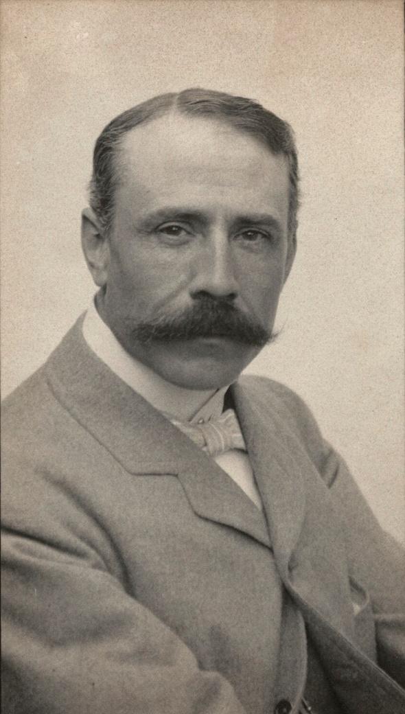 Edward ELGAR vers 1905, un portrait fait par Edgar Thomas Holding