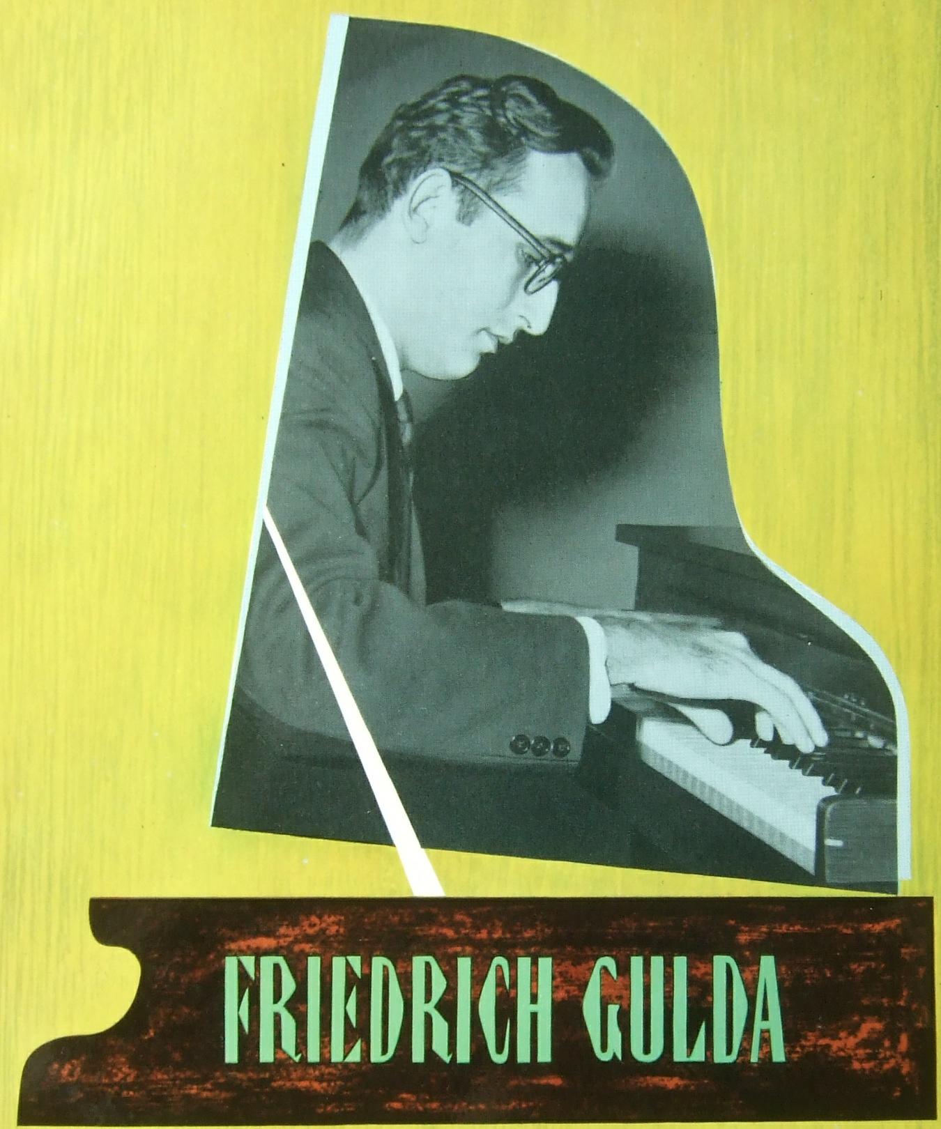 Le jeune Friedrich GULDA, extrait de la pochette du disque Decca LXT 5280, cliquer pour une vue agrandie