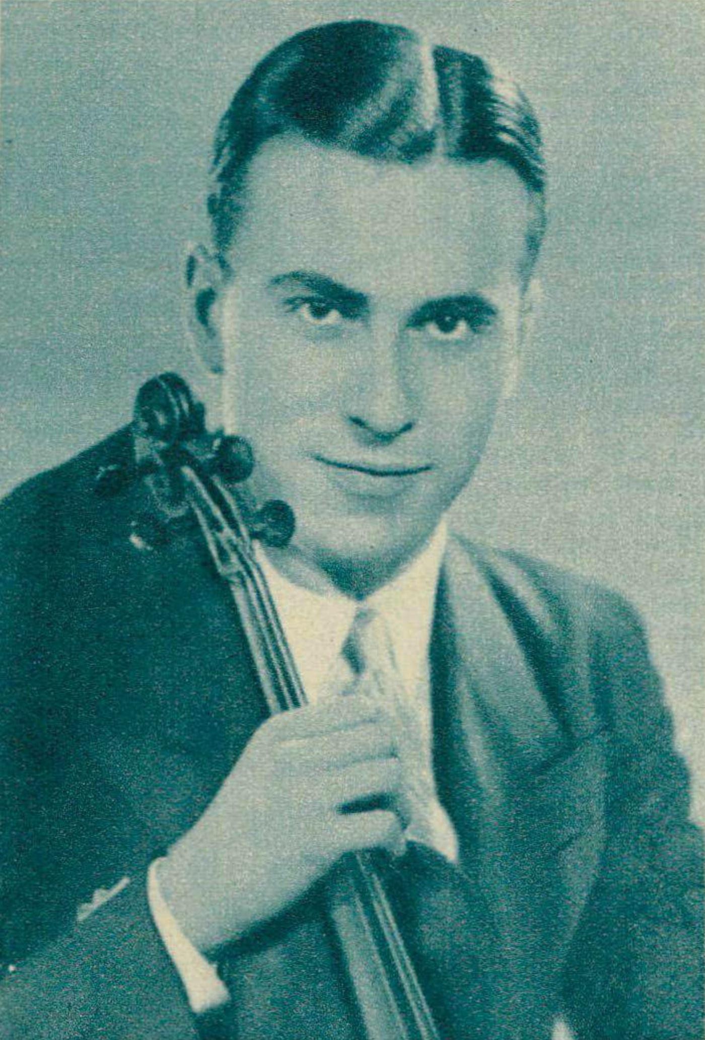 Henryk SZERYNG vers 1940, une photo parue dans la revue Le Radio du 31 mai 1940, No 895, page 672, cliquer pour une vue agrandie