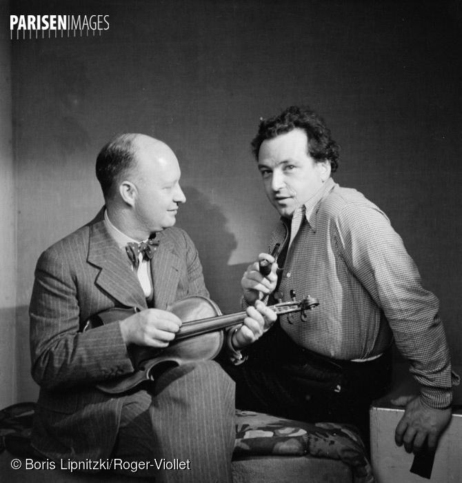 Arthur Honegger et Paul Hindemith, Paris, juin 1935, ParisEnImages © Boris Lipnitzki/Roger-Viollet, Cliquer sur la photo pour l'original et ses références