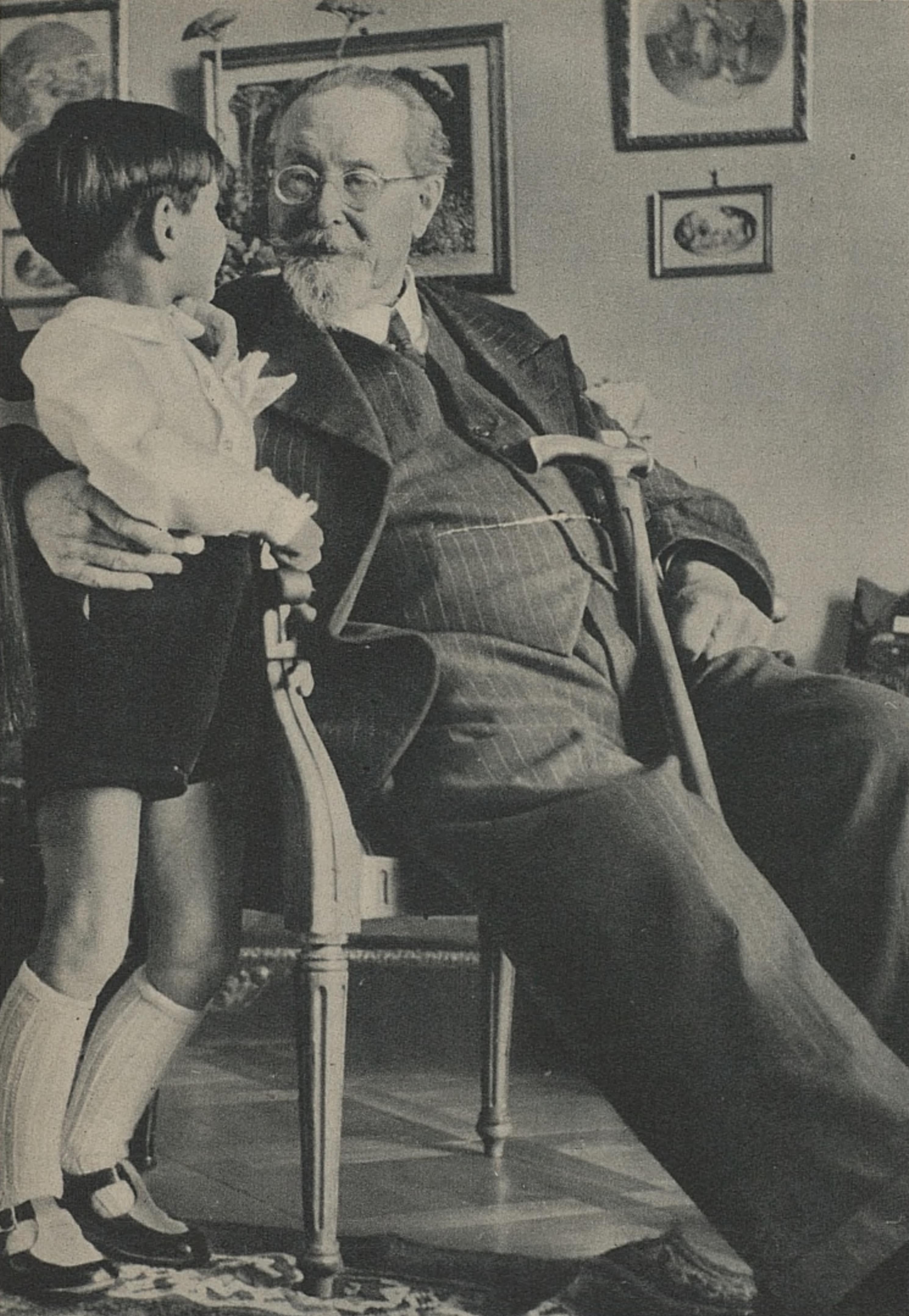 Émile JAQUES-DALCROZE, un portrait fait par Photo Bertrand, Genève, probablement fin des années 1940