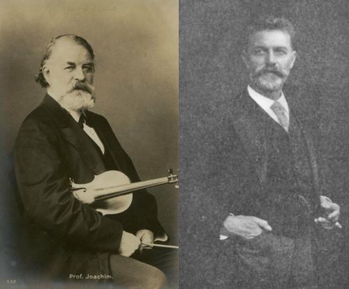 Joseph Joachim et Robert Hausmann, source: Wikipedia
