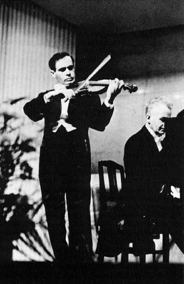 Leonid KOGAN et Andrei MYTNIK, récital donné le 10 mai 1959 dans la grande salle de la Philharmonie de Leningrad