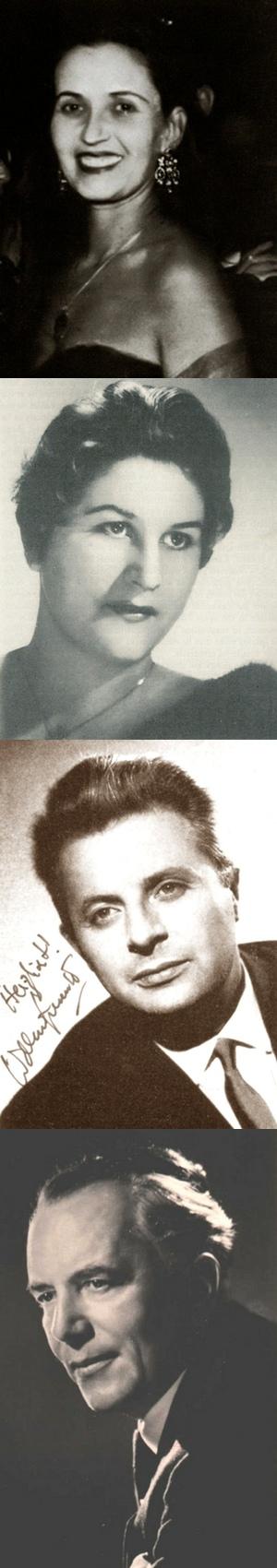 Magda László (S), Hilde Rössel-Majdan (A), Waldemar Kmentt (T), Alfred Poell (B)
