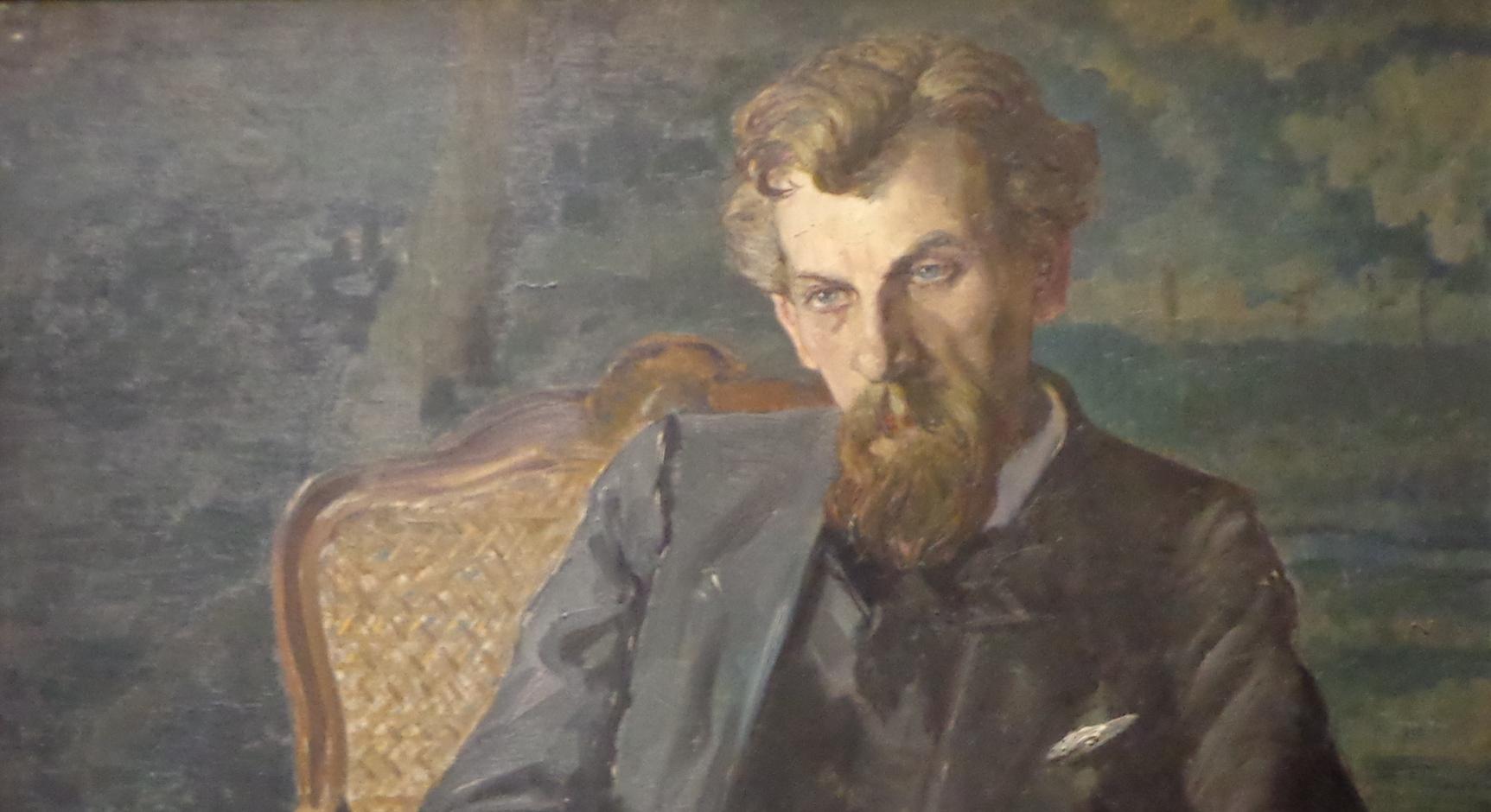 Hans PFITZNER, extrait d'un portrait fait par Lothar von SEEBACH en 1910, voir https://commons.wikimedia.org/wiki/File:Hans_Pfitzner_par_Lothar_von_Seebach_(1).JPG pour l'original