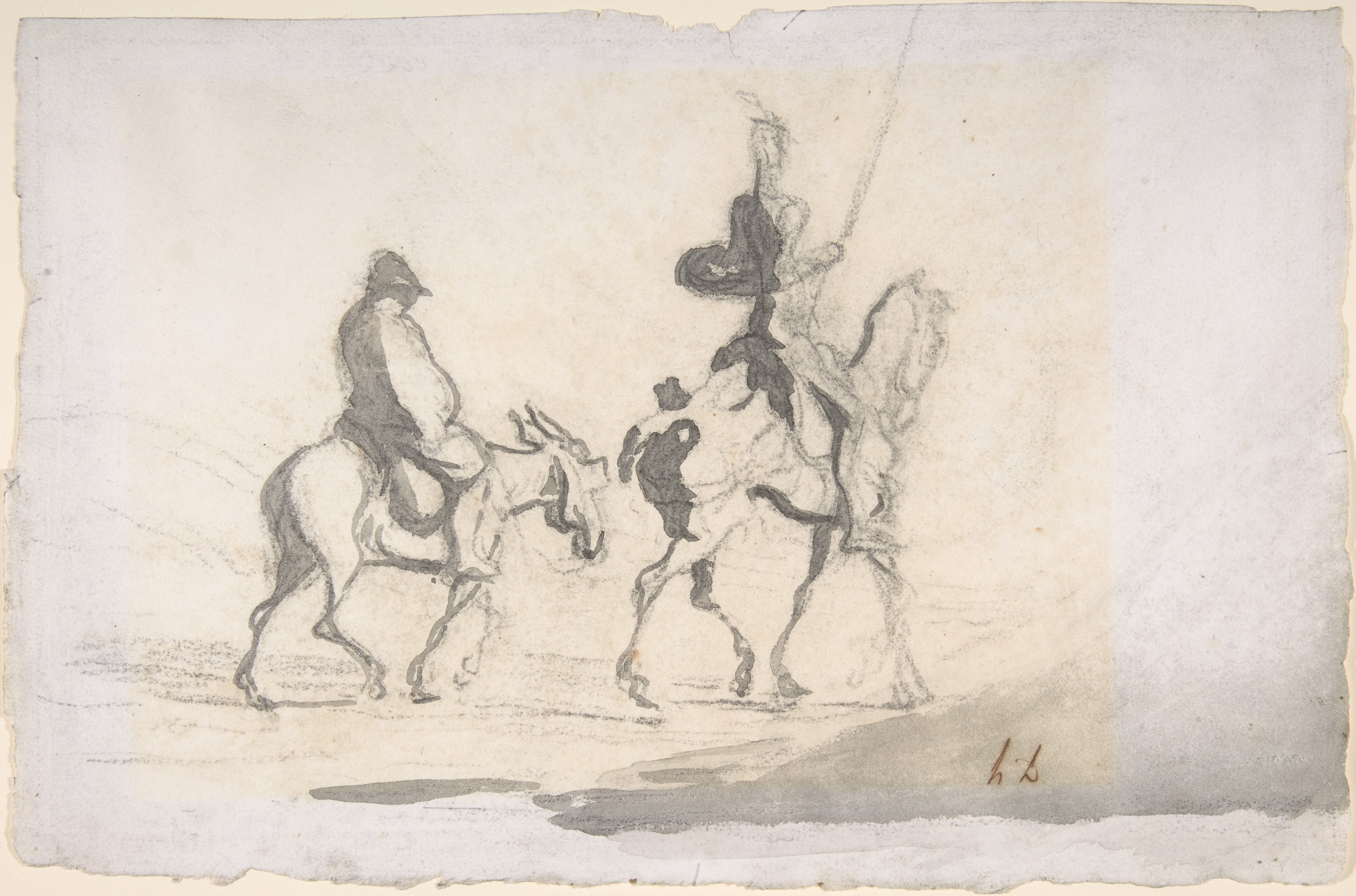 Don Quichote et Sancho Panza, Honoré Daumier