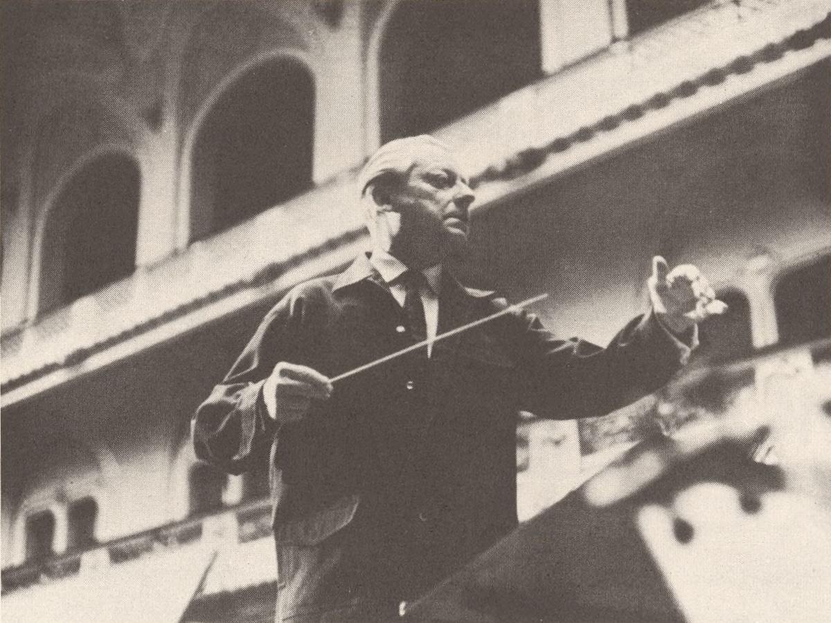 Hans SCHMIDT-ISSERSTEDT, une photo prise par Elisabeth Speidel pour EMI, Cliquer sur la photo pour une vue agrandie