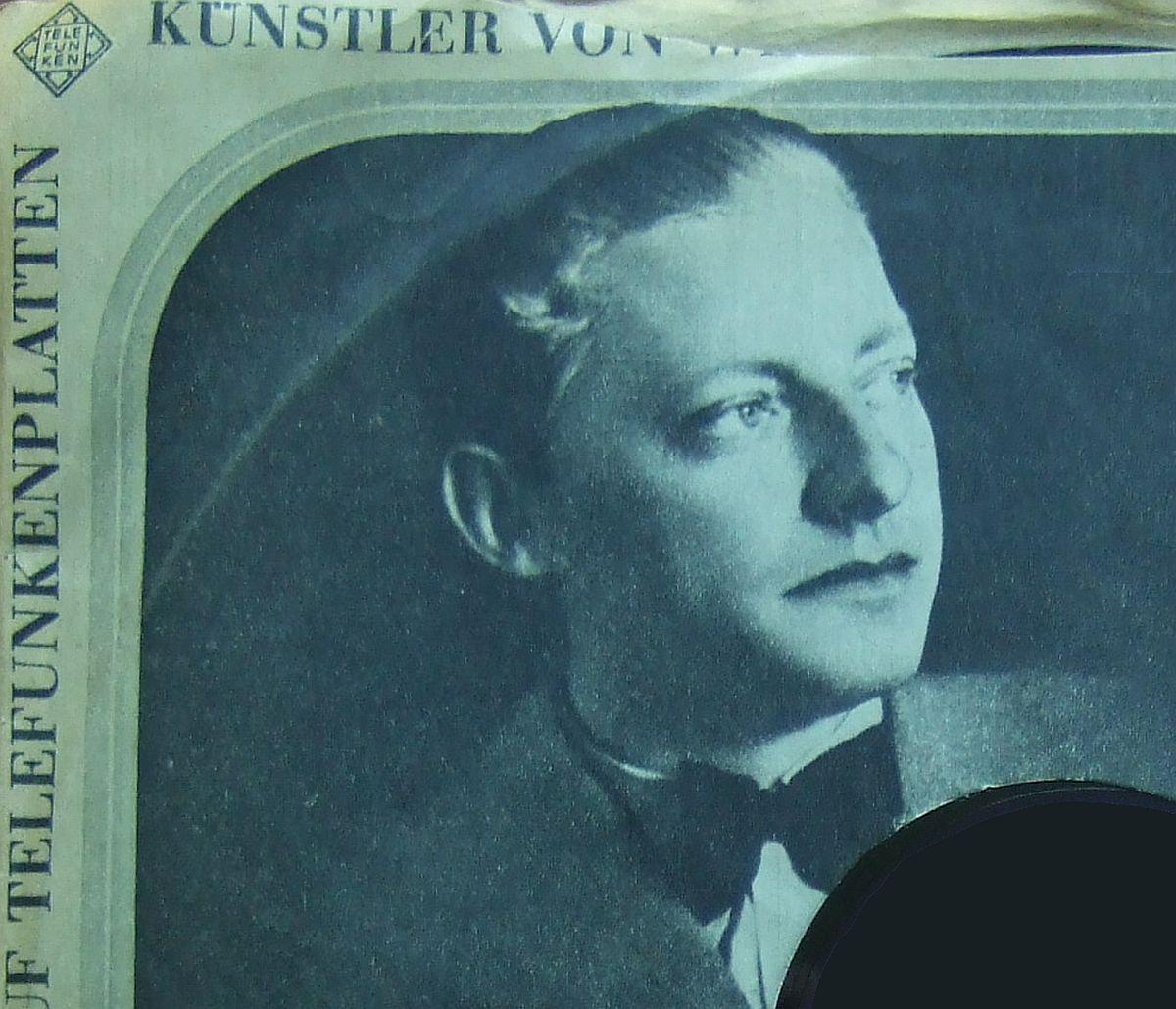 Le jeune Hans Schmid-Isserstedt sur une pochette Telefunken, clicquer pour une vue agrandie
