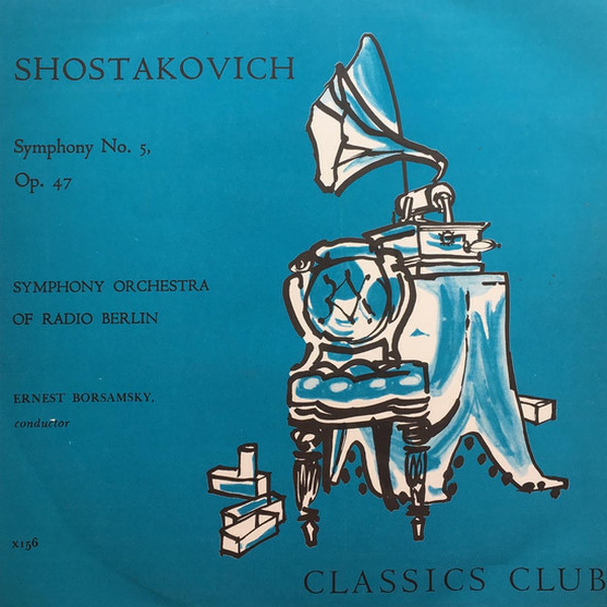 D.Schostakowitsch, Symphonie No 5, RSB, Ernest Borsamsky, Recto LP, cliquer pour une vue agrandie