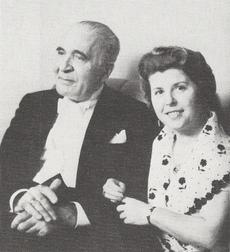 Bruno WALTER et Maria STADER en 1946, une photo de Berry GLASS, Vancouver, lieu inconnu