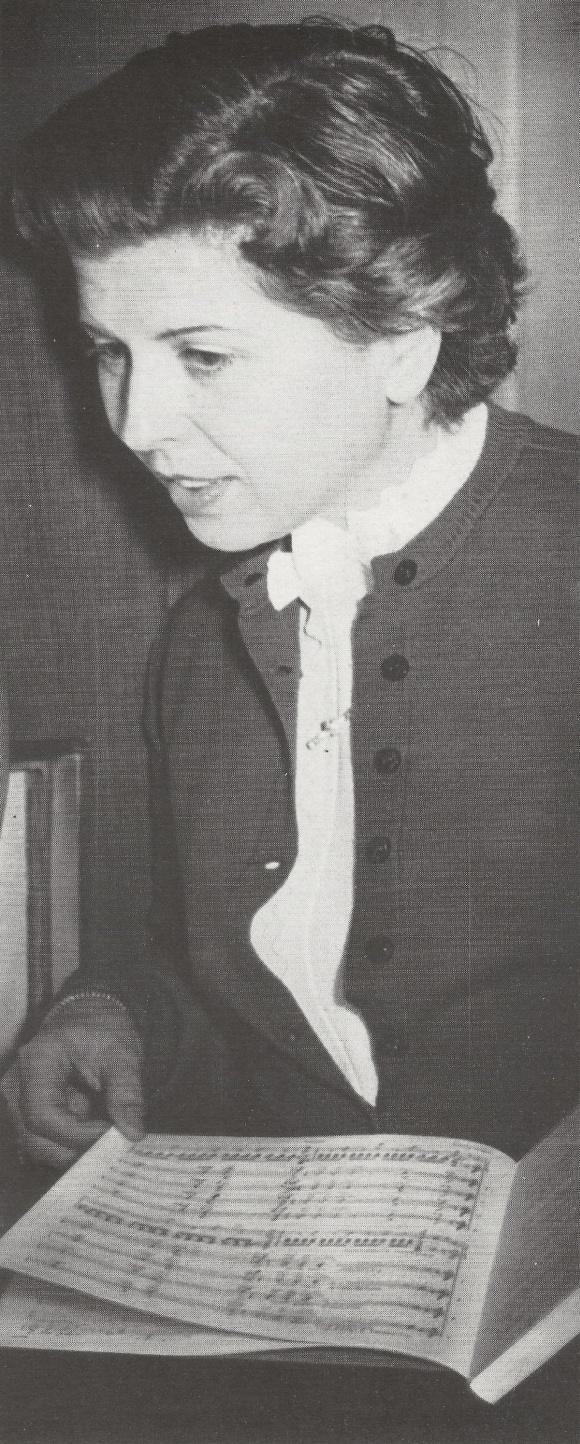 Maria STADER, probablement dans les années 1960 (date, lieu et photographe inconnus)