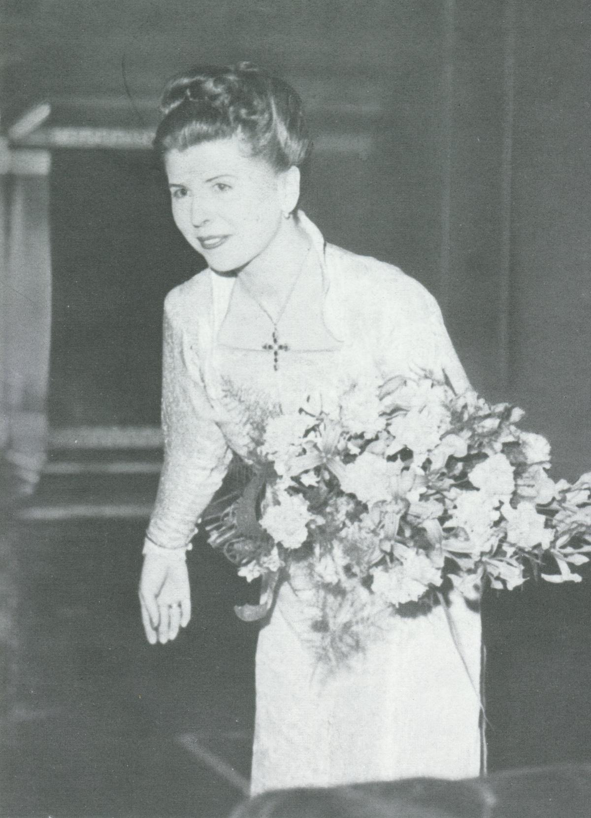 Maria STADER, Goldsmith Hall, London, 1951, cliquer pour une vue agrandie
