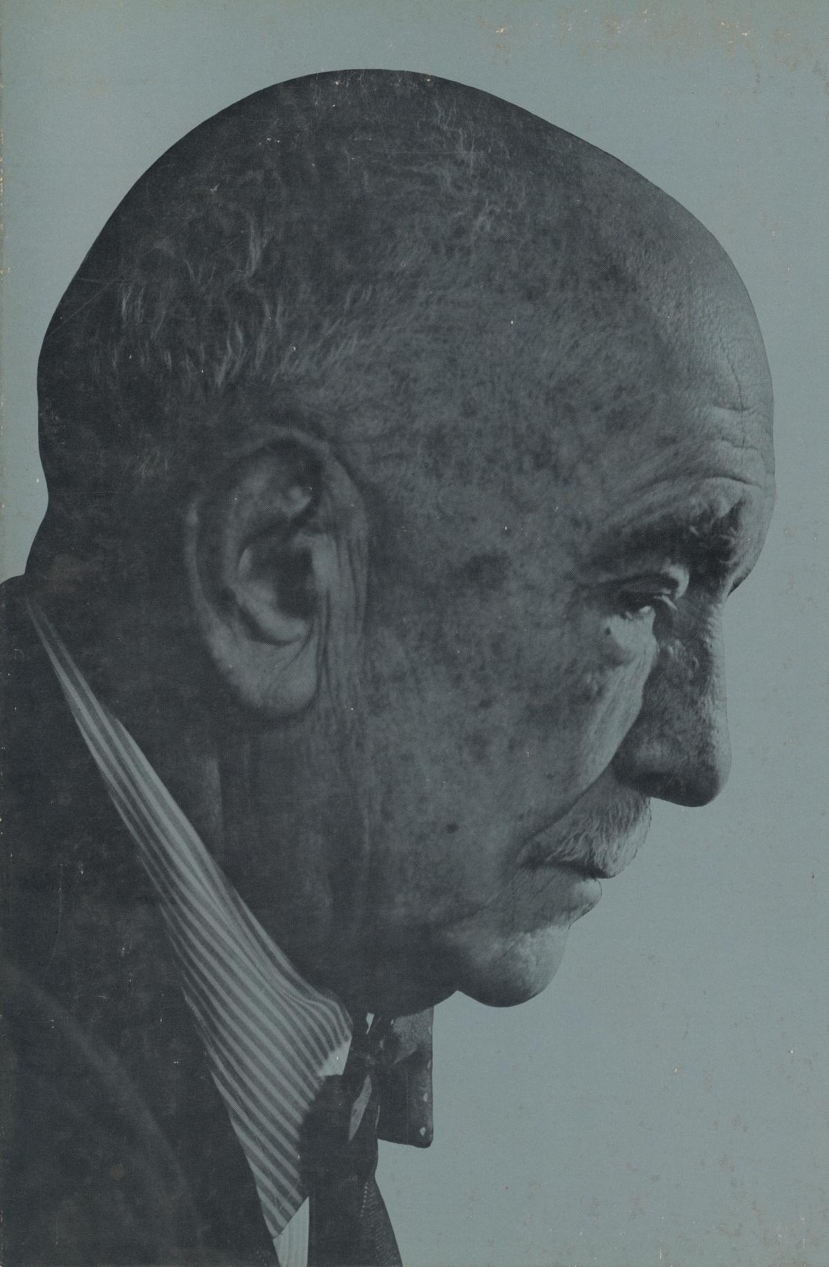 Richard STRAUSS, un portrait fait par Yousuf KARSH publié sur la pochette du disque Bristol B 406
