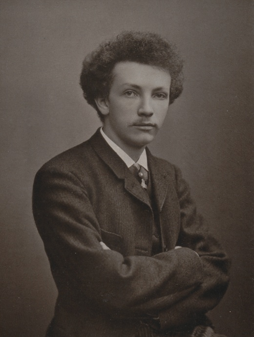 Richard STRAUSS vers 1890, un portrait fait par Photo Mueller, München