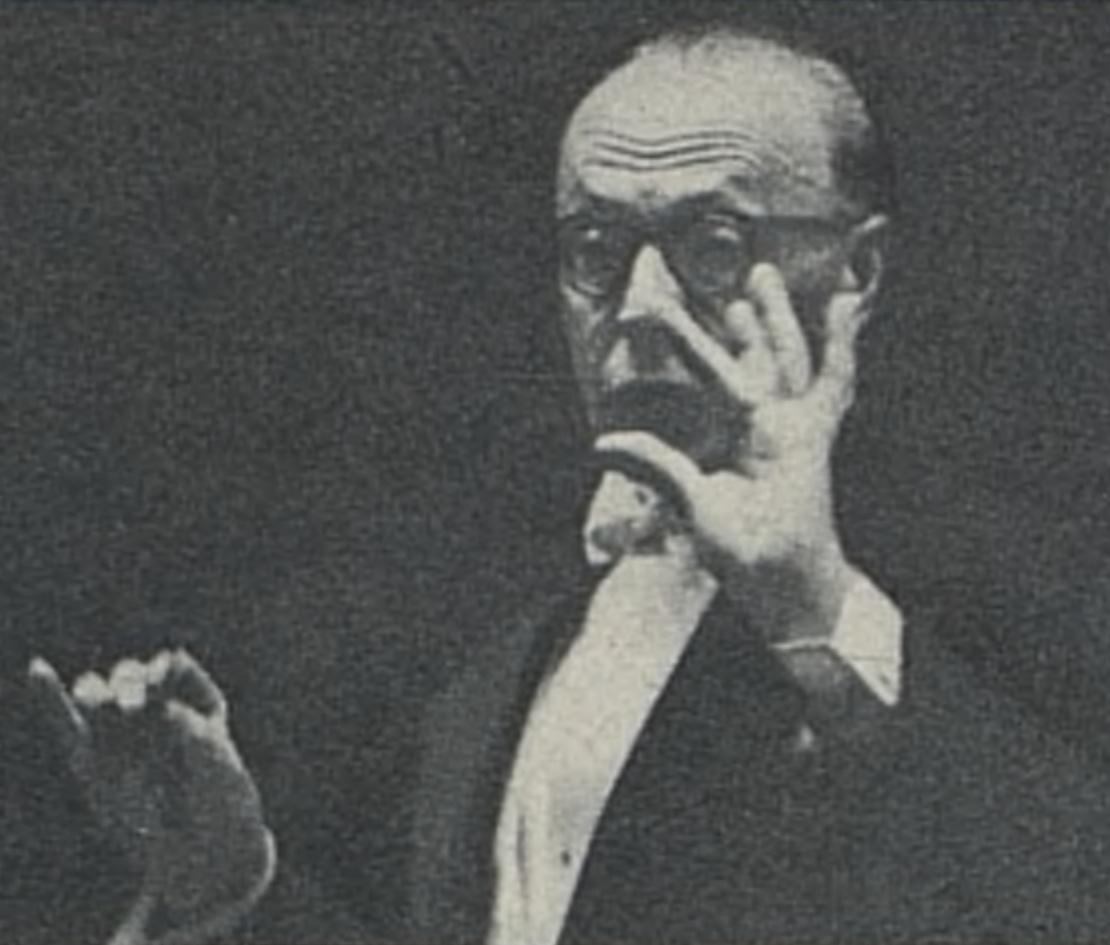 George SZELL, un portrait fait par P.WICKWORT, publié entre autres dans la revue L'Illustré du 20 mai 1957, No 22, page 15