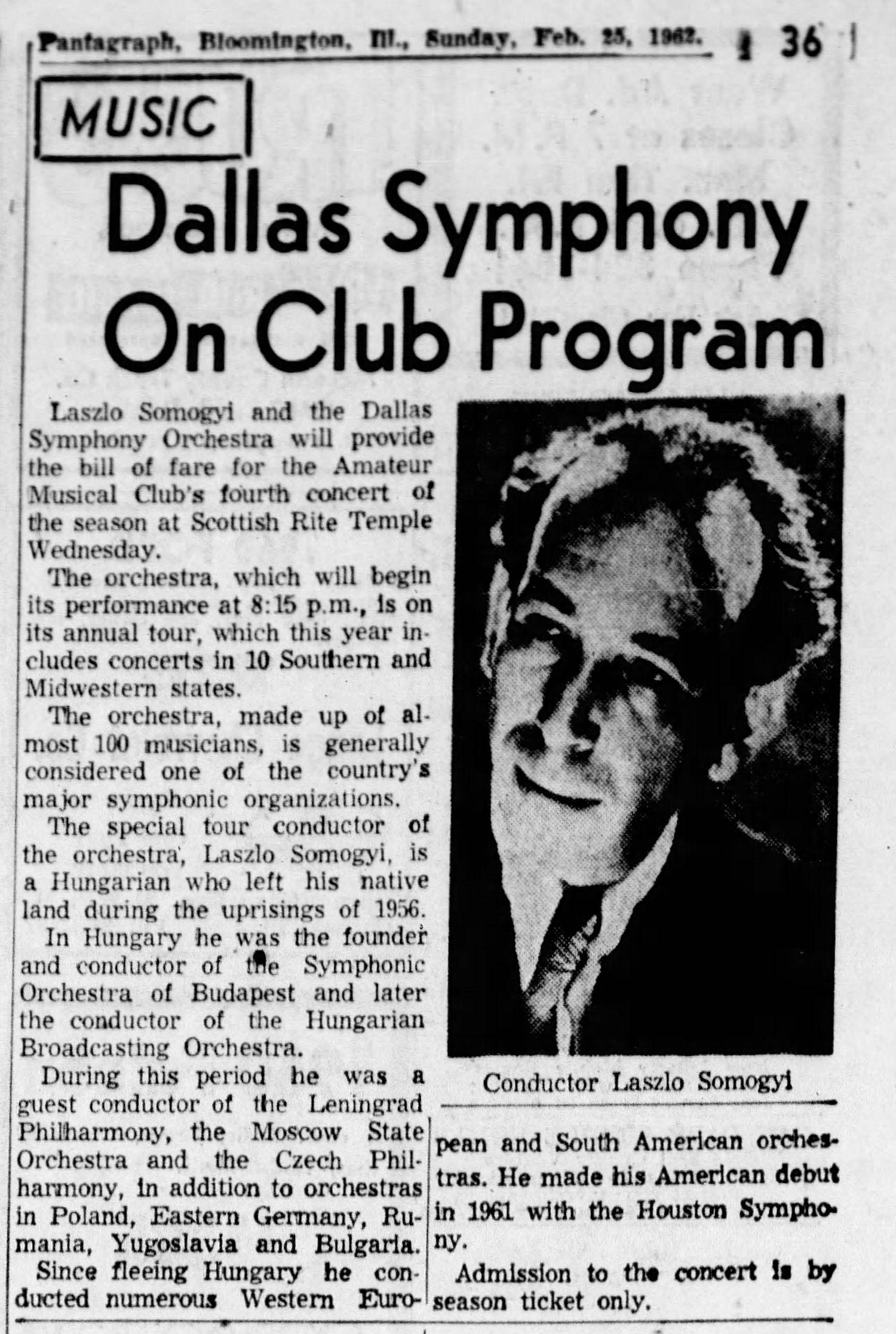 The Pantagraph Sun Feb 25 1962
