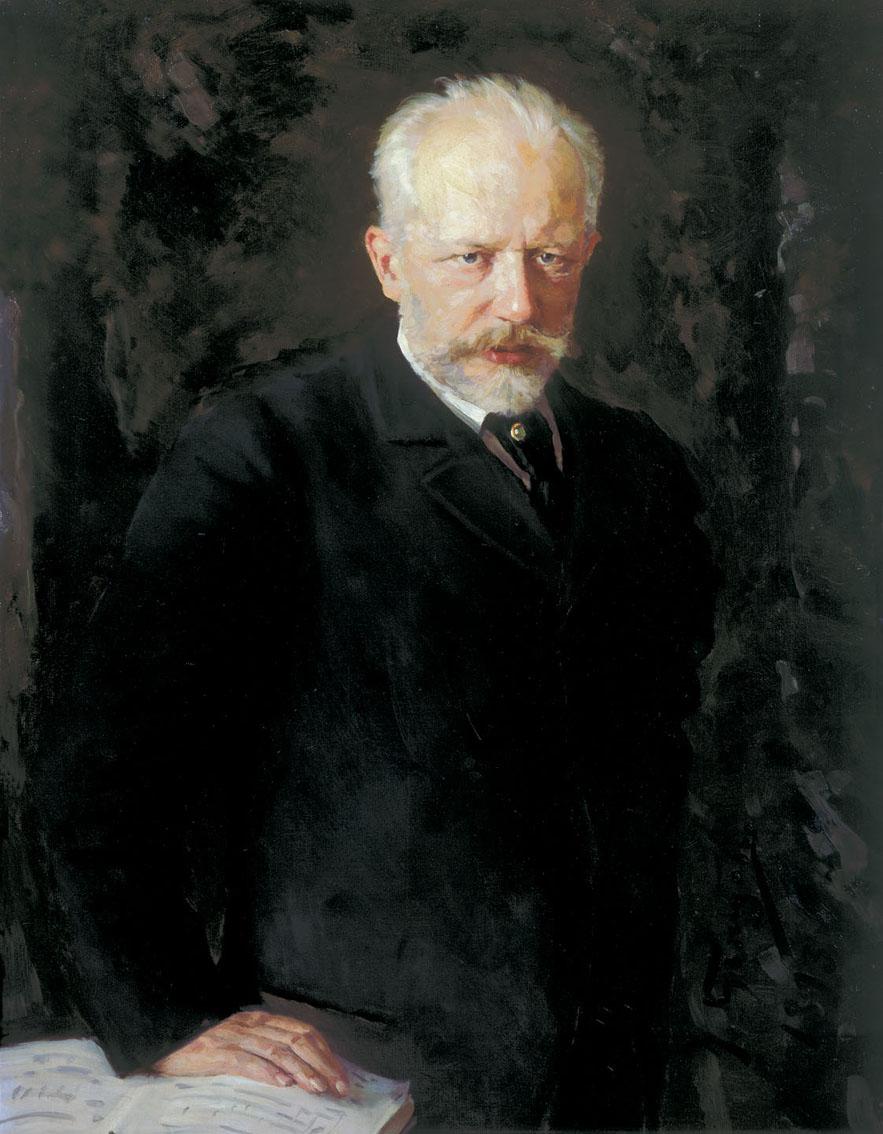 Peter TSCHAIKOWSKY, Portrait fait par Nikolay Kuznetsov datant de 1893, cliquer pour une vue agrandie