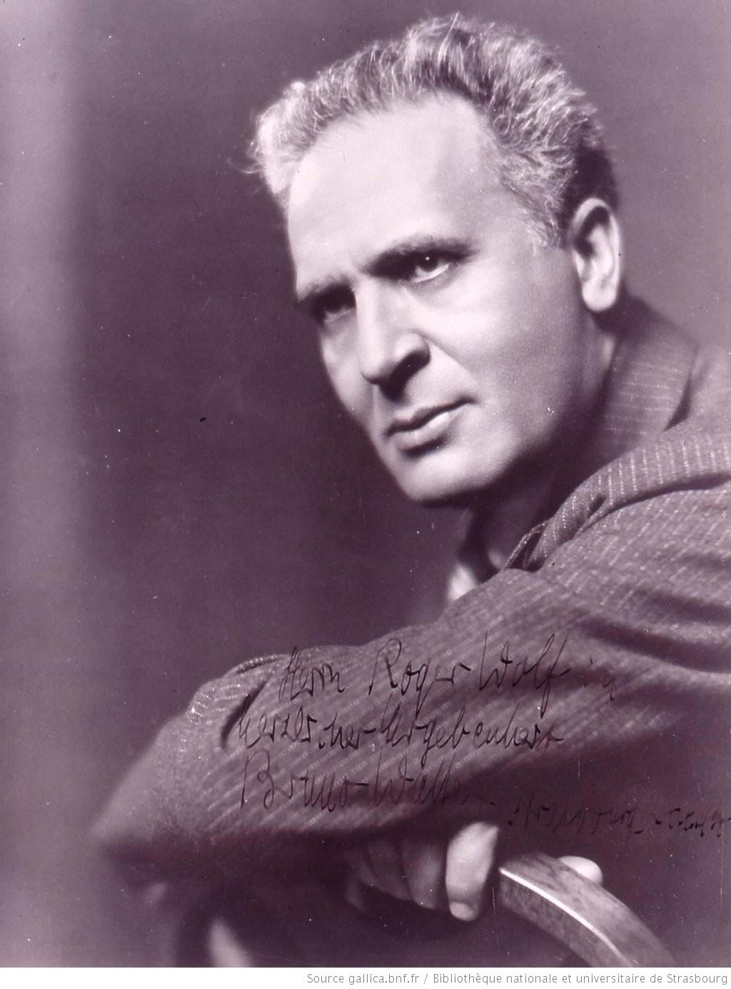 Bruno WALTER en 1934, une photo citée de la page https://gallica.bnf.fr/ark:/12148/btv1b10219510x/f1.item.r=Bruno%20Walter de GALLICA