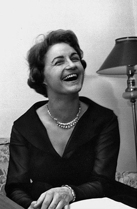Margrit Weber, détail d'une photo faite avec Igor Strawinski, 1960