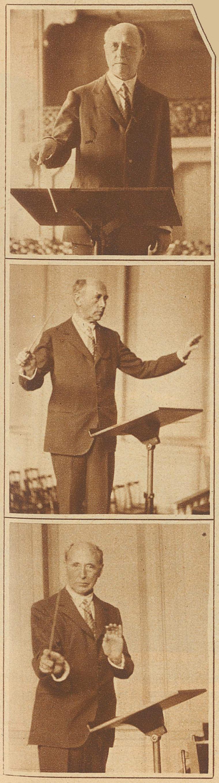 Felix WEINGARTNER en 1930, Photos de H.Leemann publiées dans la Zürcher Illustrierte, 1930, Cahier 41, page 1315, cliquer pour voir l'original