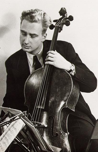 Arthur WINOGRAD en 1952, détail d'une photo du Quatuor Julliard