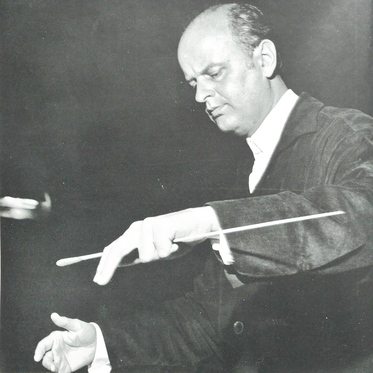 Ferenc FRICSAY, photo de presse DGG parue entre autres sur la pochette DGG LPM 18 580-82
